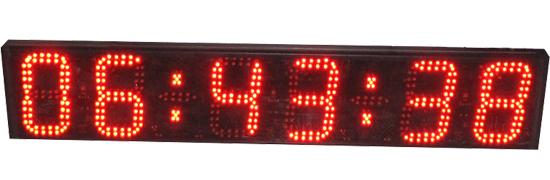 bright 6 digit hour minute second temperature digital led wall clock